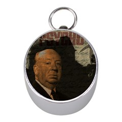Alfred Hitchcock   Psycho  Mini Silver Compasses by Valentinaart