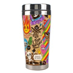 Background Images Colorful Bright Stainless Steel Travel Tumblers by Simbadda
