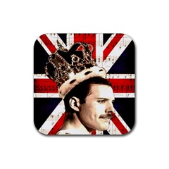 Freddie Mercury Rubber Square Coaster (4 Pack)  by Valentinaart