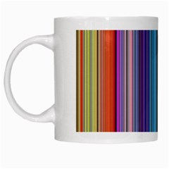 Color Stripes White Mugs