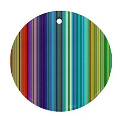 Color Stripes Round Ornament (two Sides) by Simbadda