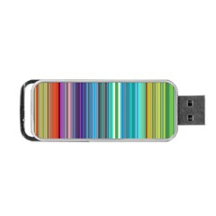 Color Stripes Portable Usb Flash (two Sides) by Simbadda