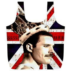 Freddie Mercury Full Print Recycle Bags (l)  by Valentinaart