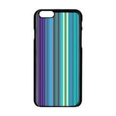 Color Stripes Apple Iphone 6/6s Black Enamel Case by Simbadda