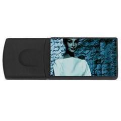 Audrey Hepburn Usb Flash Drive Rectangular (4 Gb) by Valentinaart
