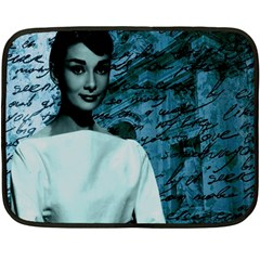 Audrey Hepburn Fleece Blanket (mini) by Valentinaart