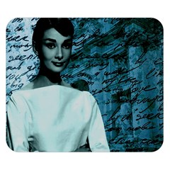 Audrey Hepburn Double Sided Flano Blanket (small)  by Valentinaart