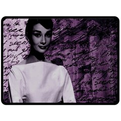 Audrey Hepburn Fleece Blanket (large)  by Valentinaart