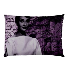 Audrey Hepburn Pillow Case (two Sides) by Valentinaart