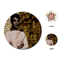 Audrey Hepburn Playing Cards (round)  by Valentinaart