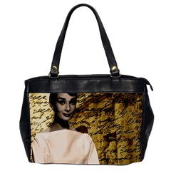 Audrey Hepburn Office Handbags (2 Sides)  by Valentinaart