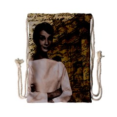 Audrey Hepburn Drawstring Bag (small) by Valentinaart