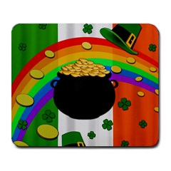 Pot Of Gold Large Mousepads by Valentinaart