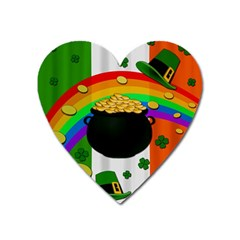 Pot Of Gold Heart Magnet by Valentinaart