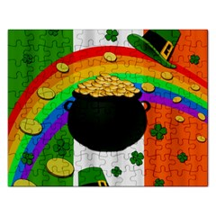 Pot Of Gold Rectangular Jigsaw Puzzl by Valentinaart