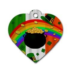 Pot Of Gold Dog Tag Heart (two Sides) by Valentinaart