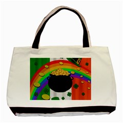 Pot Of Gold Basic Tote Bag (two Sides) by Valentinaart