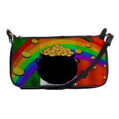 Pot Of Gold Shoulder Clutch Bags by Valentinaart