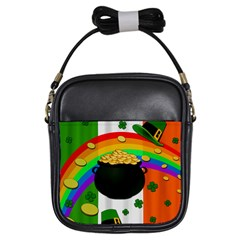 Pot Of Gold Girls Sling Bags by Valentinaart