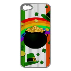 Pot Of Gold Apple Iphone 5 Case (silver) by Valentinaart