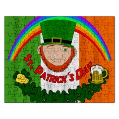 St  Patricks Day  Rectangular Jigsaw Puzzl by Valentinaart