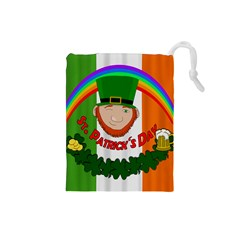 St  Patricks Day  Drawstring Pouches (small)  by Valentinaart