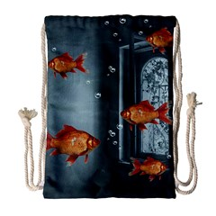 Natural Habitat Drawstring Bag (large) by Valentinaart