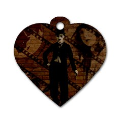 Charlie Chaplin  Dog Tag Heart (two Sides) by Valentinaart