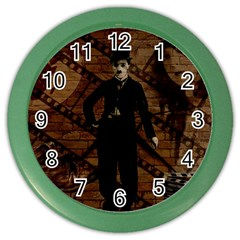 Charlie Chaplin  Color Wall Clocks by Valentinaart