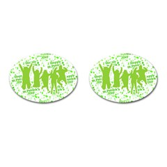 Saint Patrick Motif Cufflinks (oval) by dflcprints