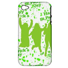 Saint Patrick Motif Apple Iphone 4/4s Hardshell Case (pc+silicone) by dflcprints