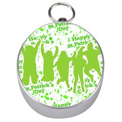 Saint Patrick Motif Silver Compasses by dflcprints