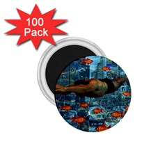 Urban Swimmers   1 75  Magnets (100 Pack)  by Valentinaart