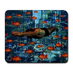 Urban Swimmers   Large Mousepads by Valentinaart