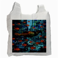 Urban Swimmers   Recycle Bag (one Side) by Valentinaart