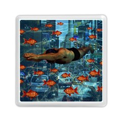 Urban Swimmers   Memory Card Reader (square)  by Valentinaart