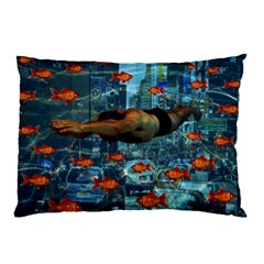 Urban Swimmers   Pillow Case (two Sides) by Valentinaart
