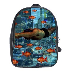Urban Swimmers   School Bags (xl)  by Valentinaart