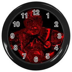 Warrior   Red Wall Clocks (black) by Valentinaart