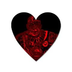 Warrior   Red Heart Magnet by Valentinaart