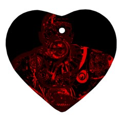 Warrior   Red Heart Ornament (two Sides) by Valentinaart