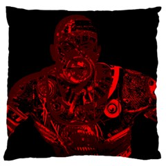 Warrior   Red Standard Flano Cushion Case (one Side) by Valentinaart