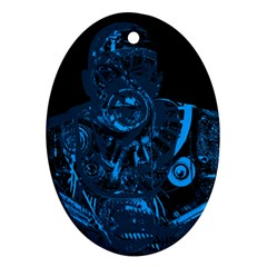 Warrior   Blue Oval Ornament (two Sides) by Valentinaart