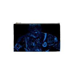 Warrior   Blue Cosmetic Bag (small)  by Valentinaart
