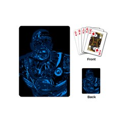 Warrior   Blue Playing Cards (mini)  by Valentinaart