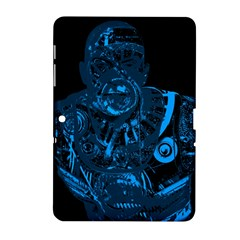 Warrior   Blue Samsung Galaxy Tab 2 (10 1 ) P5100 Hardshell Case  by Valentinaart