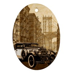 Vintage Old Car Ornament (oval) by Valentinaart