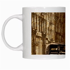 Vintage Old Car White Mugs by Valentinaart