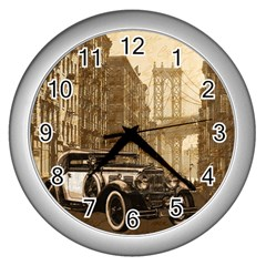 Vintage Old Car Wall Clocks (silver)  by Valentinaart