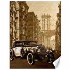 Vintage Old car Canvas 36  x 48   by Valentinaart